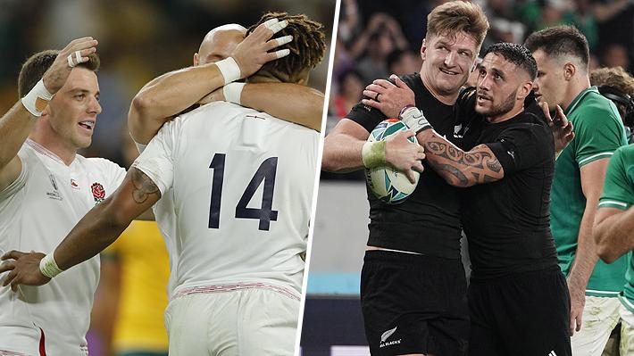 Inglaterra y Nueva Zelanda no tienen problemas para superar los cuartos y ahora chocarán en las semis del Mundial de Rugby