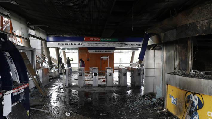 Metro cifra en 77 las estaciones afectadas: Empresa asegura que daños superarían los US$200 millones