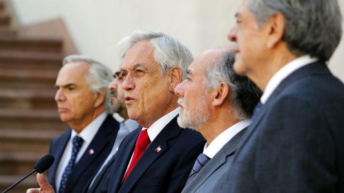 Tres poderes del Estado dan señal de unidad desde La Moneda: Llaman al diálogo y a defender la democracia