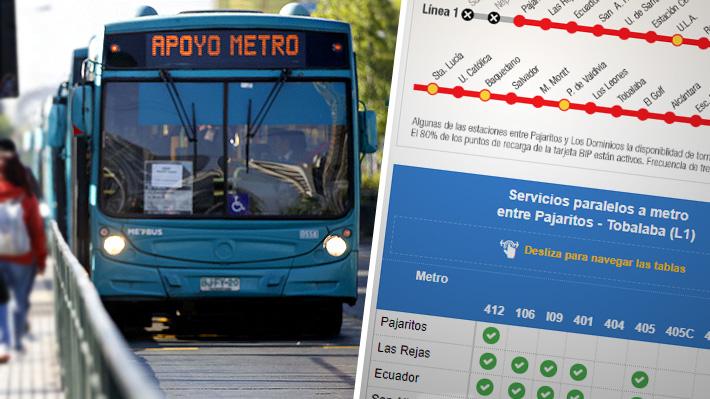 Qué tramo del Metro está operativo y los servicios paralelos de buses para suplir los cierres
