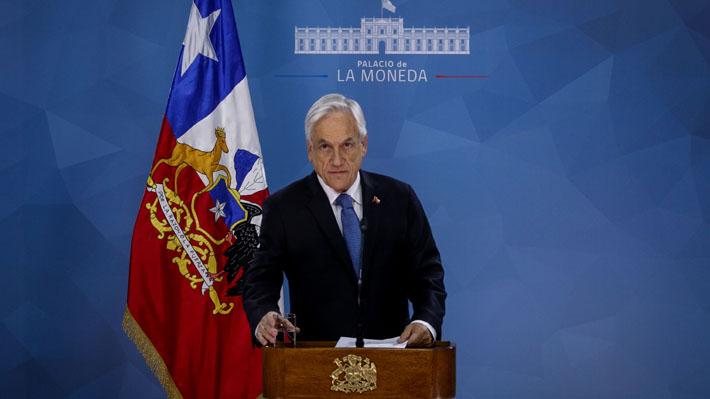 """Piñera anuncia que se reunirá con presidentes de partidos políticos de todos los sectores: """"Estamos trabajando en medidas"""""""