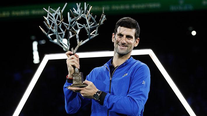 Djokovic se proclamó campeón del Masters 1000 de París y consiguió el título número 77 de su carrera