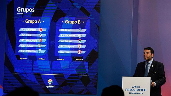 """La """"Roja"""" Sub 23 conoció a sus rivales para el Preolímpico 2020... Enfrentará al anfitrión y a Argentina"""