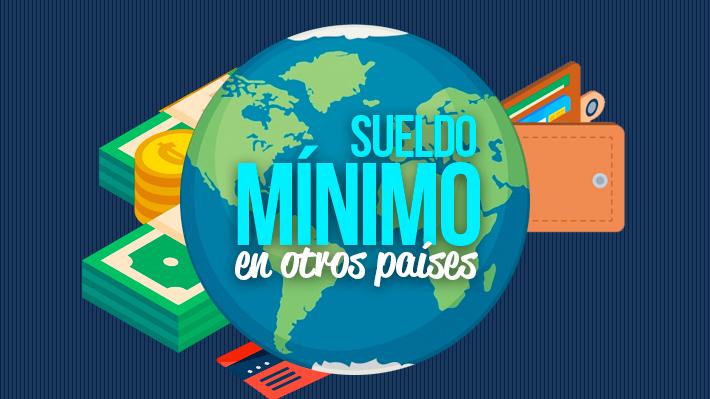 Nuevo ingreso mínimo garantizado de $350 mil en Chile: ¿Cómo son los sueldos básicos en otros países?