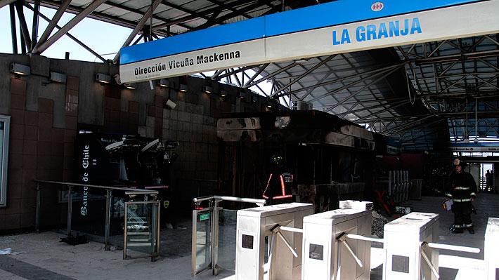 Carabineros confirma detención de un adulto de 33 años vinculado a incendio en estación de Metro La Granja