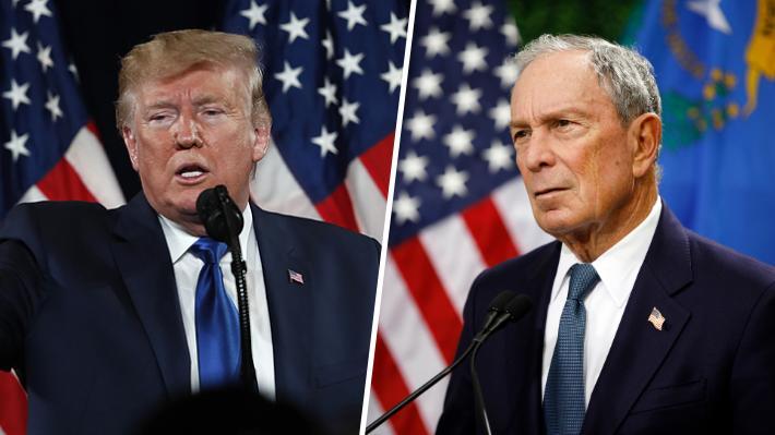 """Trump asegura que Michael Bloomberg """"fracasará"""" si se lanza a la campaña presidencial: """"No tiene la magia"""""""