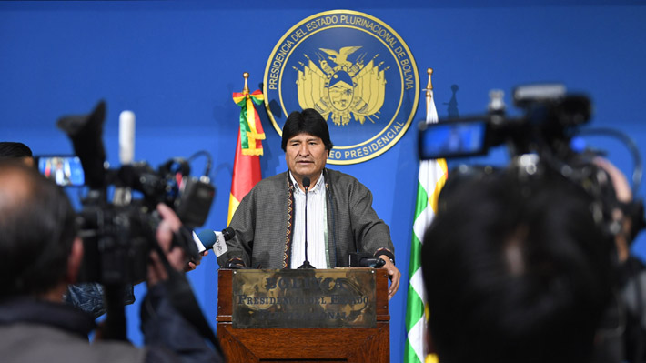 Evo Morales anuncia nuevas elecciones en Bolivia tras informe de la OEA que recomendó anular los comicios recién celebrados