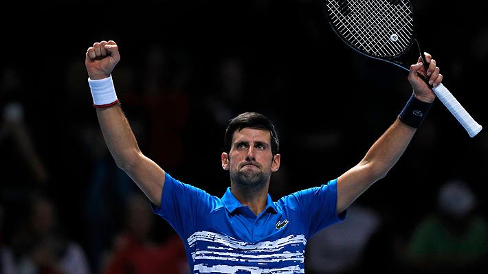 Novak Djokovic apabulló a Matteo Berrettini en el inicio del Masters de Londres