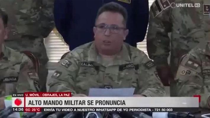 """Fuerzas Armadas de Bolivia le """"sugieren"""" a Evo Morales que deje la presidencia a pesar de haber llamado a nuevas elecciones"""