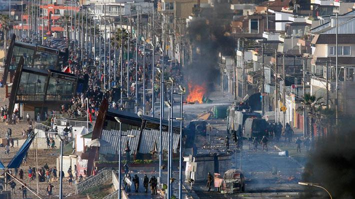 Detienen al sujeto que es acusado de disparar a manifestantes en Reñaca: Hay incidentes con carabineros