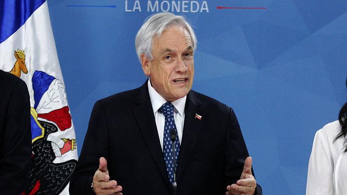 Presidente Piñera llama a acuerdos por la paz, la justicia y una nueva Constitución