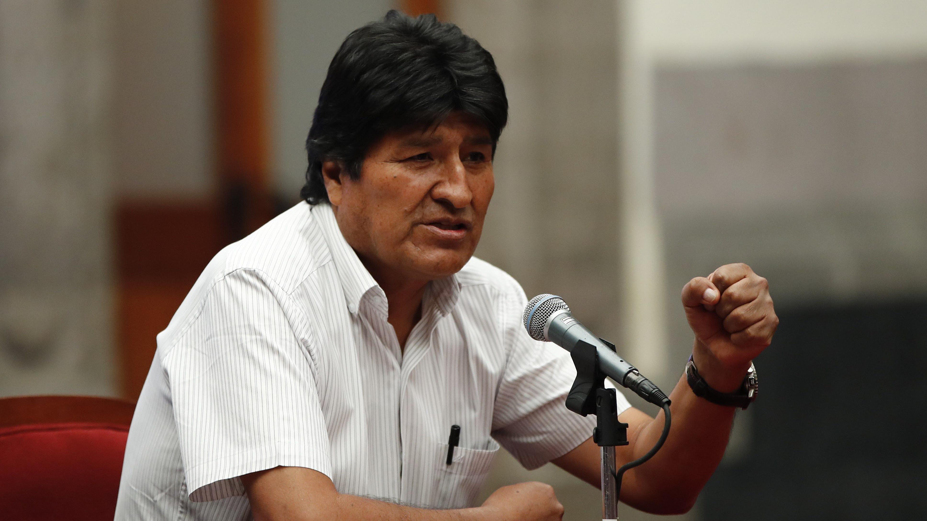 """Evo Morales se desmarca y asegura que """"nunca"""" le ha pedido a una institución que """"haga alguna cosa ilegal"""""""