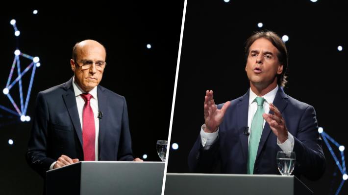 Candidatos Daniel Martínez y Luis Lacalle Pou protagonizan tenso último debate previo a elecciones en Uruguay