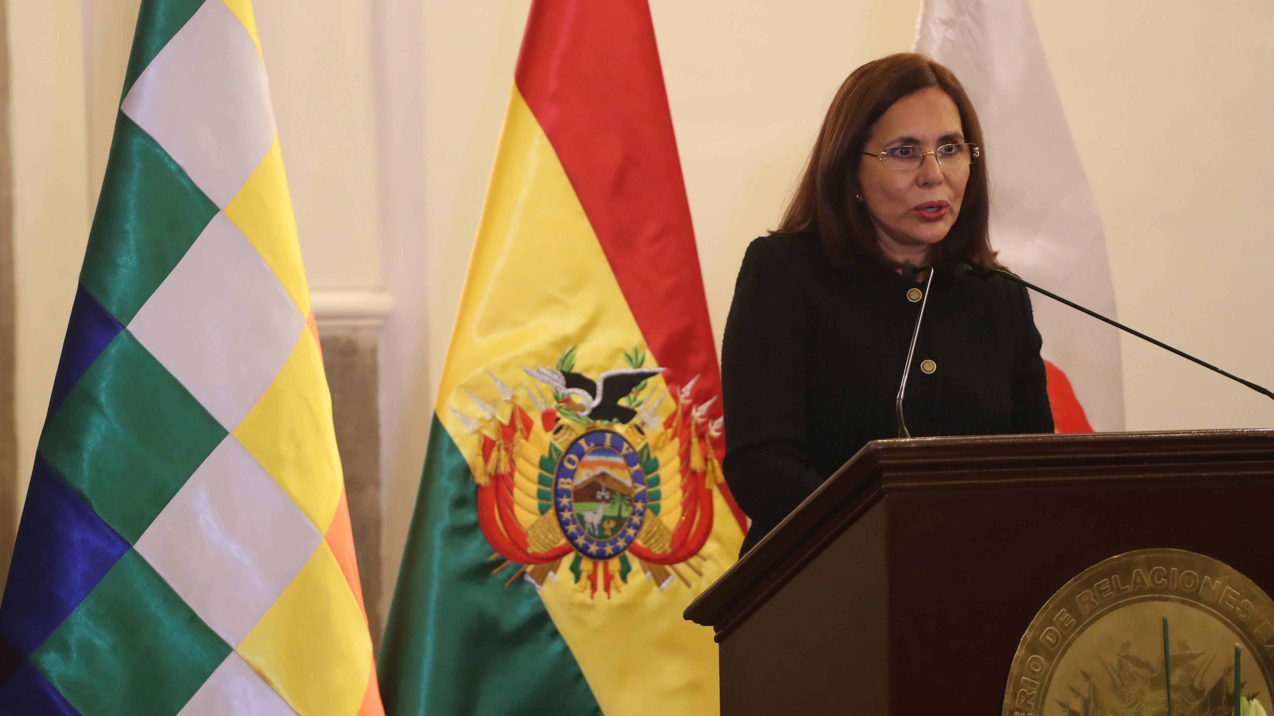 """Nueva canciller de Bolivia anuncia que buscará """"fortalecer"""" las relaciones bilaterales con Chile"""