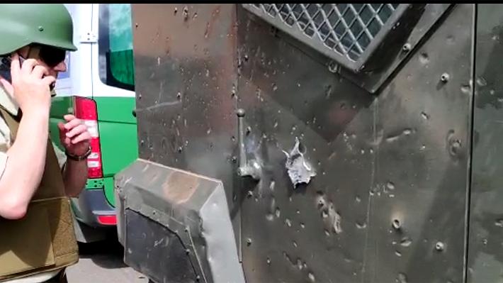 Dos carabineros son lesionados tras ataques a vehículos blindados en medio de incidentes en Ercilla