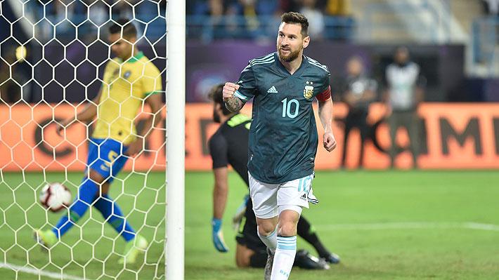 Messi volvió a la selección argentina tras 4 meses y anotó el único tanto del triunfo sobre Brasil en el clásico