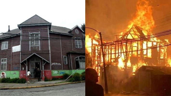Incendio destruye en la madrugada a la sede del Partido Socialista en Valdivia