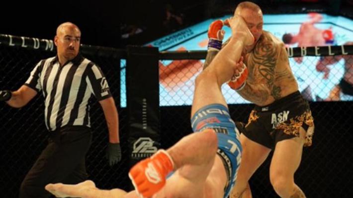 Video: ¿El nocaut del año? La increíble acrobacia con la que un peleador fulminó a su rival en la MMA