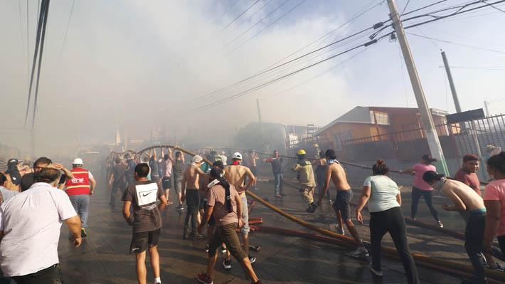 """Sharp acusa """"intencionalidad"""" de incendio en Rodelillo:  """"No es fruto del azar, en Valparaíso pasa algo que debe ser investigado"""""""