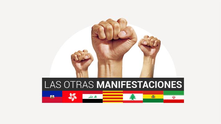 Chile no es el único: Siete países que están viviendo manifestaciones en su territorio