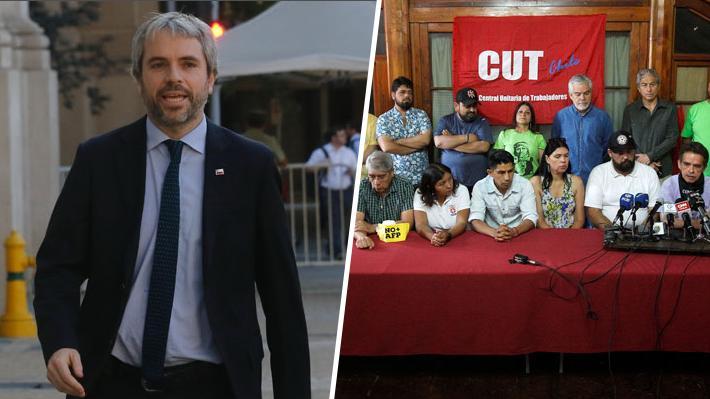 Ministro del Interior invita a sostener reunión a mesa de Unidad Social: Envió carta el viernes