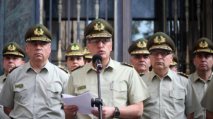 El alto mando del general Mario Rozas en medio de los cuestionamientos al actuar de Carabineros