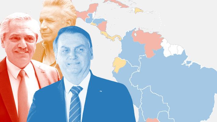 Cómo ha cambiado el mapa ideológico de los gobiernos latinoamericanos en los últimos tres años