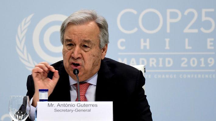 """Secretario general de la ONU: """"La COP25 debe ser más ambiciosa contra el cambio climático"""""""