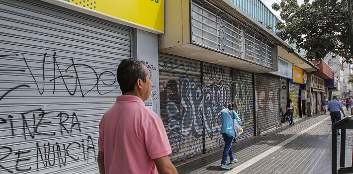 Economía chilena registra en octubre su peor caída mensual en más de 10 años tras inicio de crisis social