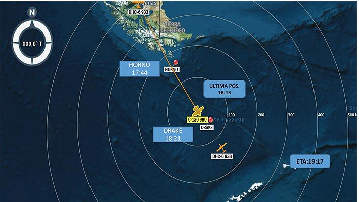 """FACh declara como """"siniestrado"""" avión C130 Hércules y comienza la búsqueda de """"posibles"""" sobrevivientes"""