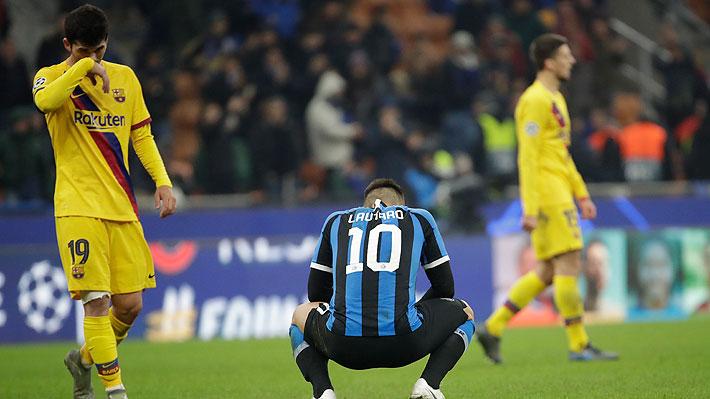 Inter quedó eliminado de la Champions tras caer con un Barcelona plagado de suplentes y que contó con la titularidad de Vidal