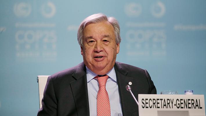Secretario general de las Naciones Unidas insta a que haya más ambición de los países en la COP25