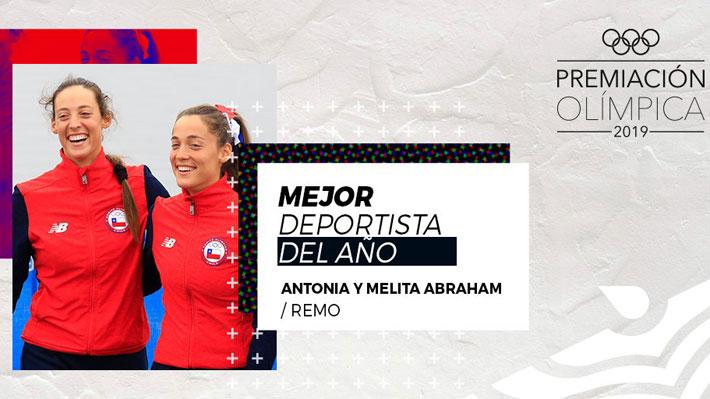 Mellizas Abraham fueron elegidas como las mejores deportistas del 2019 en la gala olímpica del COCh