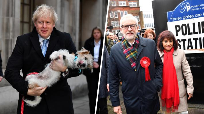 Elecciones en Reino Unido: Boris Johnson y Jeremy Corbyn acuden a las urnas en su lucha por conquistar a los indecisos