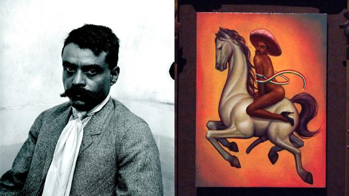 Polémico cuadro de Zapata se quedará en el Bellas Artes de México pero junto a nota de familiares reprobando la obra