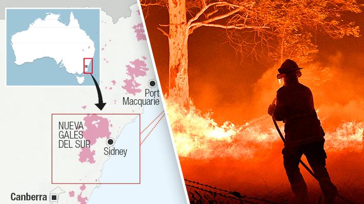 Los incendios azotan a Australia: Cuáles son los focos principales y cuántas hectáreas han sido afectadas