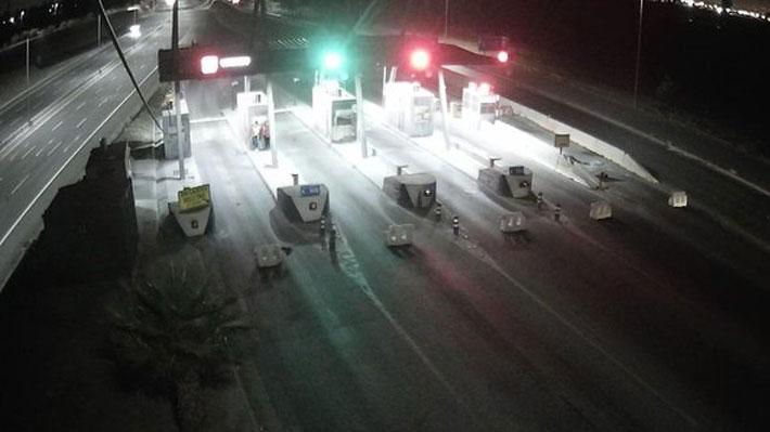 Cuatro detenidos tras ataque incendiario en casetas de peajes en Ruta Acceso Sur