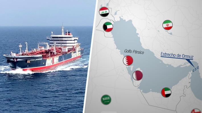 Mapa: Los países presentes en el Golfo Pérsico y la zona del estrecho de Ormuz