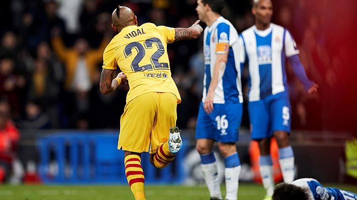 Vidal ingresó, anotó y le cambió la cara a un Barcelona que de igual forma empató en sufrido duelo ante el colista por Liga