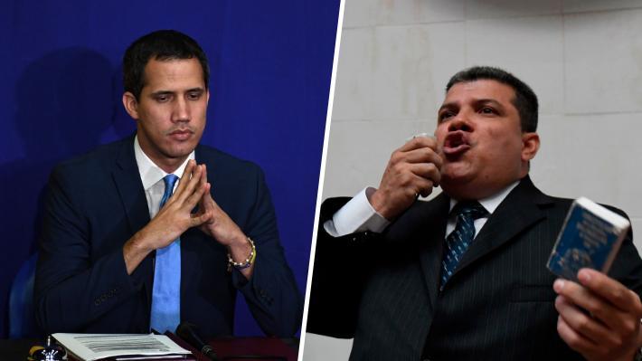 Venezuela comienza la jornada con dos presidentes para un mismo Parlamento