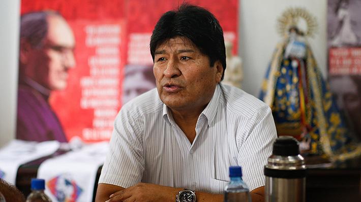 Invitan a Evo Morales a Chile para participar en foro internacional de Derechos Humanos