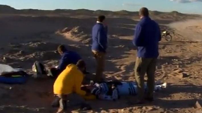 Video: La aparatosa caída que sacó del Dakar a uno de los favoritos para llevarse la prueba en motos