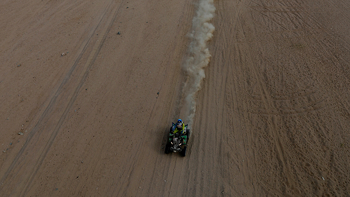 Chileno Giovanni Enrico da la gran sorpresa y se adjudica la 3.a etapa en los quads del Dakar 2020