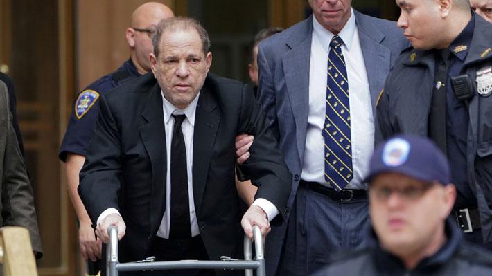 Fotos: El deteriorado aspecto de Harvey Weinstein durante su juicio por violación y agresión sexual