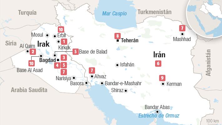 El mapa cronológico del conflicto en el Golfo Pérsico: Los 12 días en que escaló la violencia entre Irán y Estados Unidos