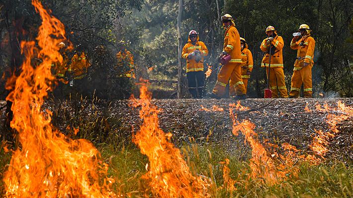 Australia extiende el estado de desastre en las zonas afectadas por incendios forestales