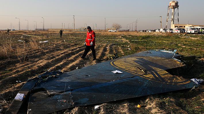 Publican video del supuesto impacto de un misil al avión ucraniano de pasajeros en Irán