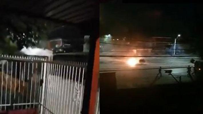 No cesan los enfrentamientos en Pudahuel: Quinta noche consecutiva de violencia deja un carabinero herido