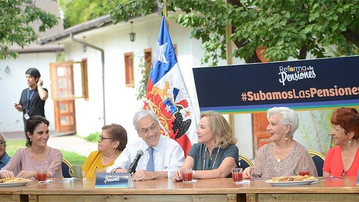 """Presidente Piñera llama al Congreso aprobar reforma de pensiones para que alza de jubilaciones se paguen """"ojalá"""" en marzo"""