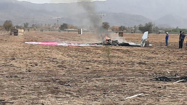 Dos fallecidos tras caída de una avioneta cerca de aeródromo La Victoria en Colina